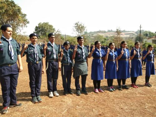 Std. IX Scouts   Guides at their camp-site